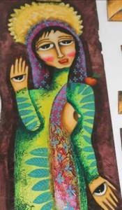 Frauen-Kunst, Augen, Tantra_Frauen