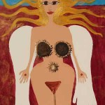 Sonne, Haare, Gemälde Tantra, koerper