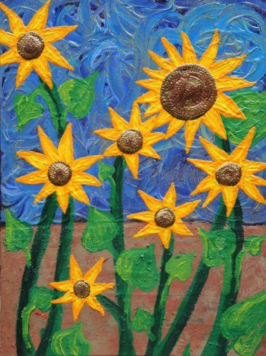 """Gemälde von Lucian 07/12 Acryl auf Leinwand """"Girasoles""""…"""